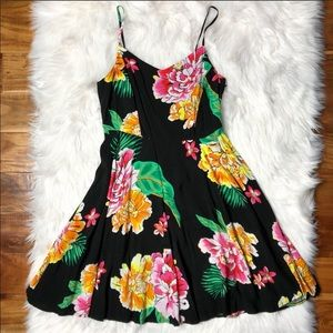 OLD NAVY Tropical Floral Hawaiian Fit Flare Dress